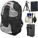 Precision Design PD-BP2 Sling Digital SLR Camera Backpack Case with EN-EL14 Battery & Charger + Tripod + Kit for Nikon Nikon D3300, D3400, D5300, D5500, D5600