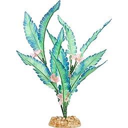 Petco Aqua Bloom Silk Aquarium Plant, Blue / Green
