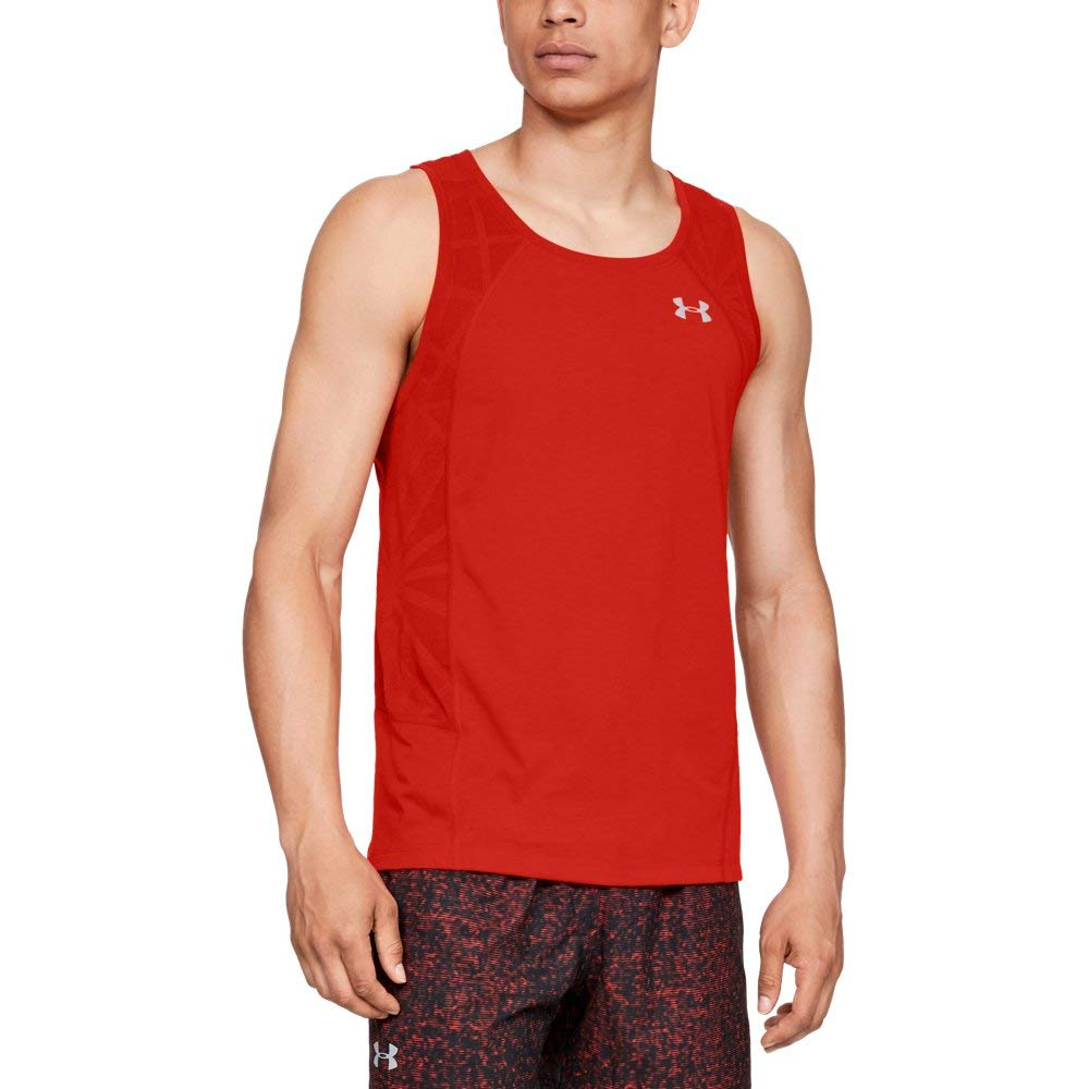 Under Armour Men's Swyft Singlet , Radio Red (890)/Reflective, Medium