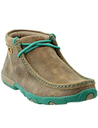 Twisted X Casual Shoes Womens Driving Mocs Lace 7 M Bomber WDM0020