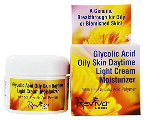 5% Glycolic Acid Cream - Reviva Labs Glycolic Acid Oily Skin Daytime Light Cream Moisturizer 1.5 oz