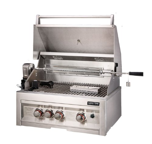 SUNSTONE SUN3B-IR-LP 3-Burner 28-Inch Infrared Propane Gas Grill Sunstone Metal Products LLC.