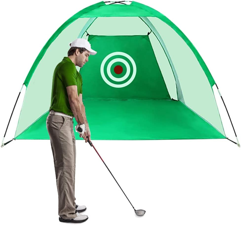 Funme Golf Hitting Net with Target Sheet Golfing Portable Swing Training Aids Driving Range for Outdoor and Indoor with Carry Bag and Golf Balls
