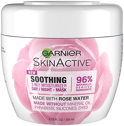Garnier SkinActive 3-in-1 Face Moisturizer with Rose Water,  6.75 fl. oz.