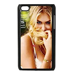 iPod Touch 4 Case Black Kate Upton Magazine Shy Face Girl Art Wotss
