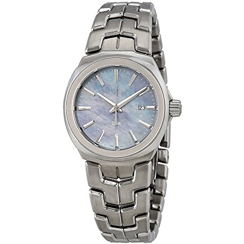 Tag Heuer Link Blue Mother of Pearl Dial Ladies Stainless Steel Watch WBC1311.BA0600