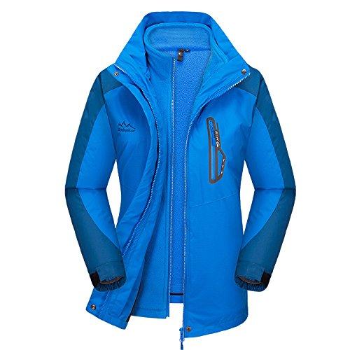 Cappotto Donne Uomo Escursionistica Degli Women delle Impermeabile Interno Tuta Del Smontabile Uomini 3in1 Blue Rivestimento Vello Antivento Esterno rffxEBwqP6