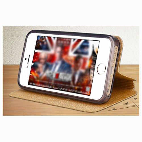 Vooway Coque Pour Apple iPhone SE 4,0'' Étui À Rabat en Cuir PU Flip Cover Coque Retour Silicone avec Fonction Support [protecteur d'écran gratuit] Hybride Housse Protection Pour iPhone SE 4,0 pouces