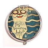 Amazing Jake.jpg Custom Diy stainless steel Round Pill Box Case Medicine Tablet HolderDurable Gift offers