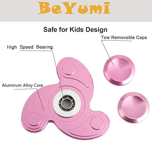 BeYumi Fidget Spinner Toy , New Style Design Hand Spinner for Killing Time and Anxiety, Best Stress Reducer, Giving Up Smoking Boredom and Relaxation Hand Spinner Toy