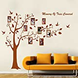 Winhappyhome Brown Tree Memory Photo Frame Decals Wall Art Stickers for Nursery Bedroom Living Room Corridor Backdrop Removable Decor Decal