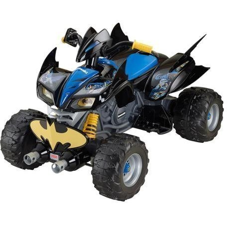 (Fisher-Price Power Wheels DC Super Friends 12-Volt Battery-Powered Kawasaki Batman ATV Black)