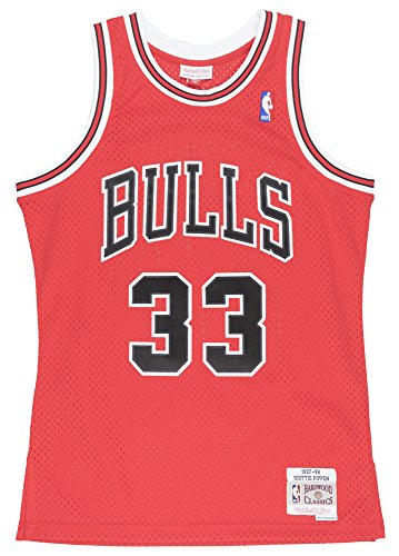 sale retailer a9fcf dd4b2 Scottie Pippen Chicago Bulls Mitchell & Ness NBA Throwback HWC Jersey - Red  from Mitchell & Ness at the Favorite Sportswear