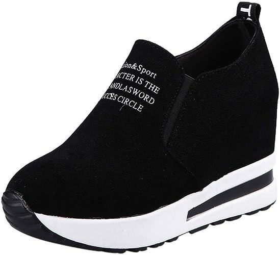 Women Wedges Campus Shoes Black