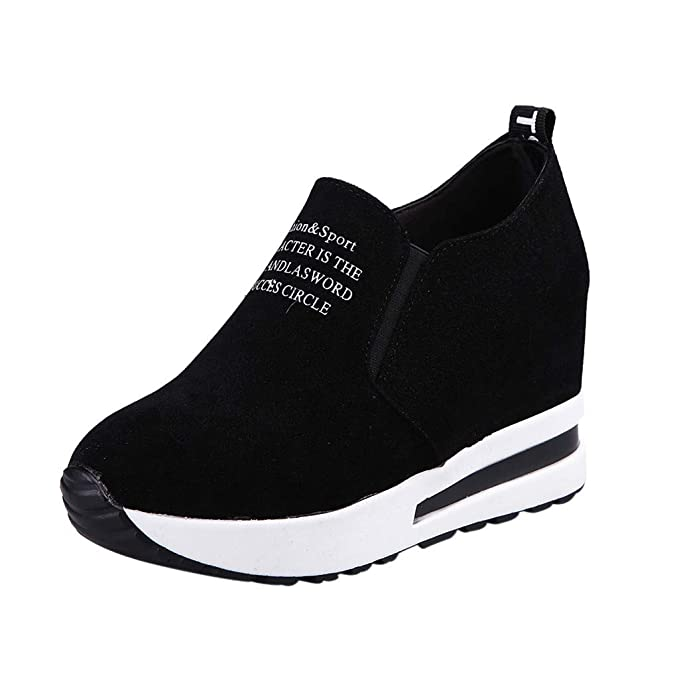 087004c86dd8f Sharemen Women Casual Platform Shoes Thick Shoes Travel Shoes