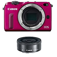Canon EOS M2 Mirrorless Digital Camera with EF-M 22mm f/2 STM Lens Kit International Model (No Warranty)