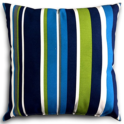 Decorative Square 18 x 18 Inch Throw Pillows  - Blue, Green