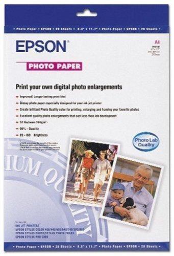 Epson A4 Photo Paper - Papel fotográfico (353 x 239 x 5 mm, 370 g ...