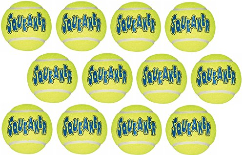 Dog Tennis Ball (Kong Company Med Tennis Ball (Pack Of 12 balls))