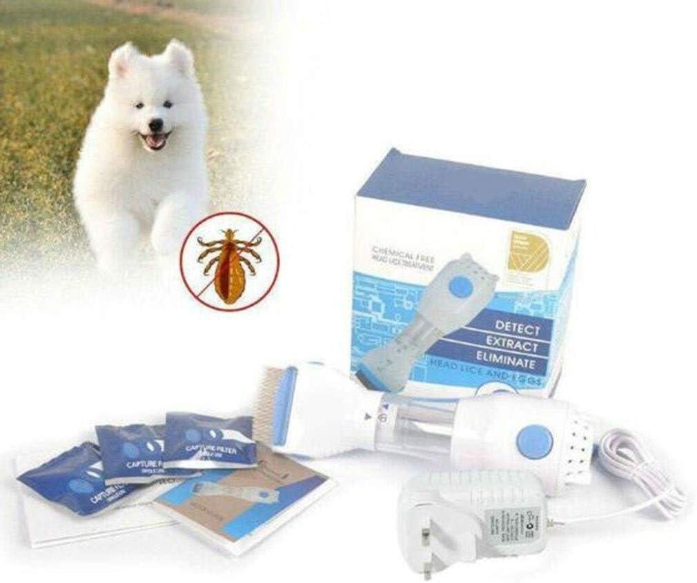 Gaoyanhang Aspirador, Peine eléctrico del Animal doméstico, la Limpieza Profesional de Accesorios for el Cabello, con 4 filtros Desechables reemplazables (Color : White): Amazon.es: Hogar
