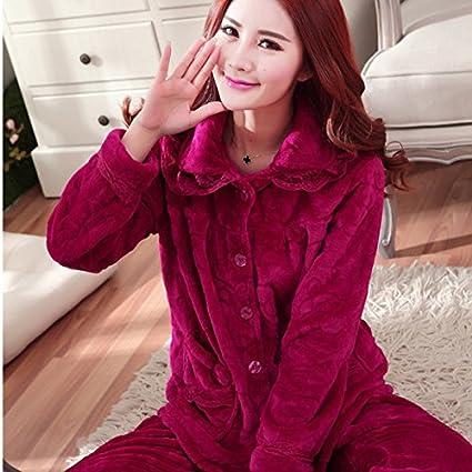 MH-RITA 2017 franela invierno polar Mujer Pajama establece Pijama Pijama Pijama Mujer Pijama Mujer