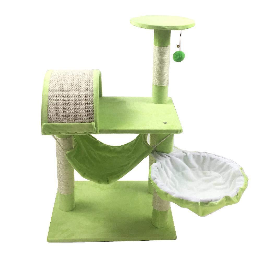 D Hexiansheng Cat Climb Trees Pet cat toy Platform grasping column grab board furniture 51  41  82cm sheet rope Flannel