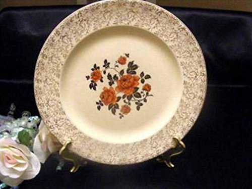 Antique Steubenville Trend Red Roses Dinner Plate