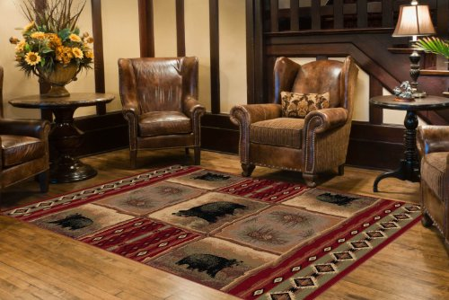 Universal Rugs Lodge Novelty Red product image