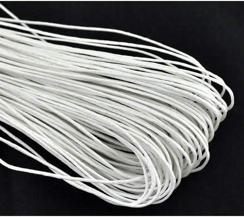 10 metros de hilo de algodón encerado blanco (1 mm) – Fabricación ...