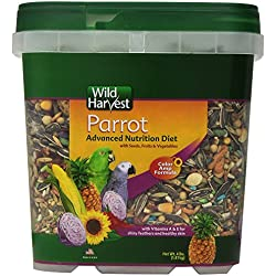 Wild Harvest WH-83542 Wild Harvest Advanced Nutrition Diet for Parrots, 4-Pound