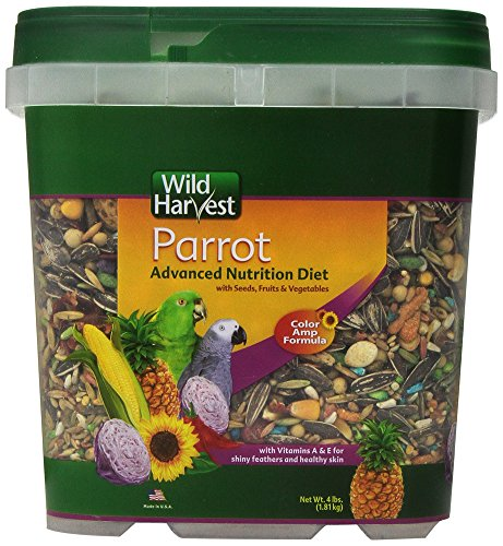 Wild Harvest Wh-83542 Wild Harvest Advanced Nutrition Diet For Parrots, 4-Pound]()