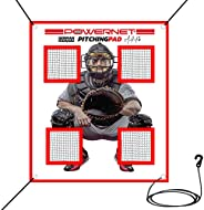 PowerNet German Marquez Pitching Pad | 4 Pocket Baseball Softball Pitching Pad | Perfect for Cages or on Hitti
