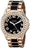 XOXO Women's XO5473 Rose Gold Tone and Black Epoxy Bracelet Watch