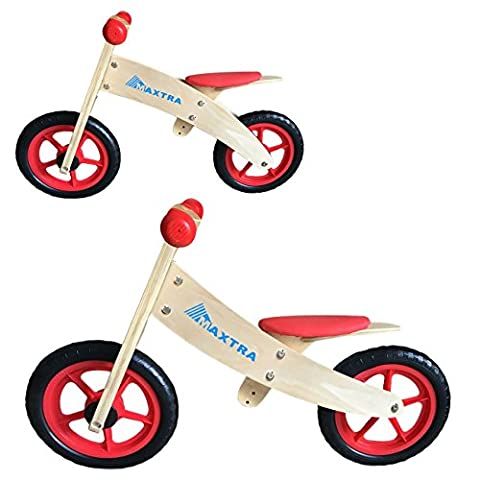 Maxtra 2 in 1 Wooden Balance Bike No Pedal Push Bicycle For Kids 2 to 5 Years (1 2 Inch Kids Pedals)