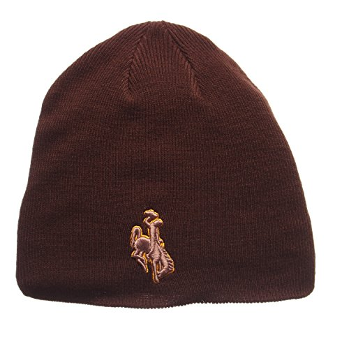 Cowboys Ncaa Spring - ZHATS Wyoming Cowboys Brown Edge Skull Cap - NCAA Cuffless Winter Knit Beanie Toque Hat