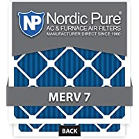 Nordic Pure 20x24x1M7-12 MERV 7 Pleated AC Furnace Air Filter, 20x24x1, Box of 12 by Nordic Pure