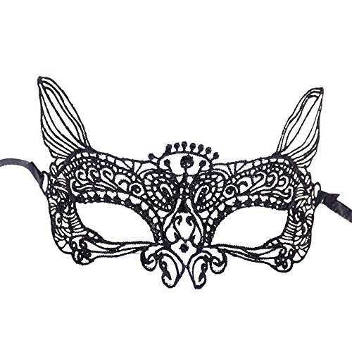 Clearance Sale!Toimoth Halloween Masquerade Mask Prom Party Mask Accessories (Black,P)