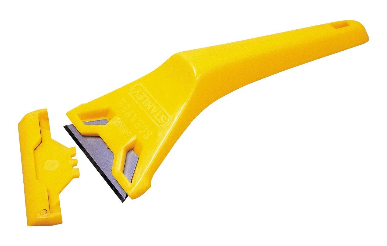 Stanley 0-28-590 Window Scraper, Yellow