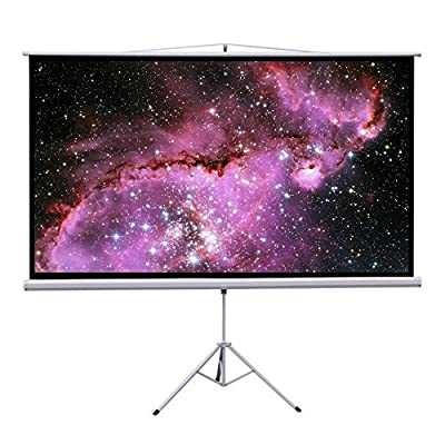 "Gotobuy 100"" Projector 16:9 Projection Screen Tripod Pull-up White"