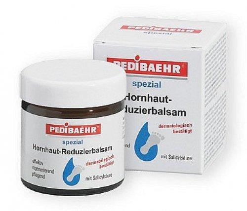 Hornhaut Reduzierbalsam mit Salicylsäure Fusscreme für verhornte Haut, PediBaehr, 60ml