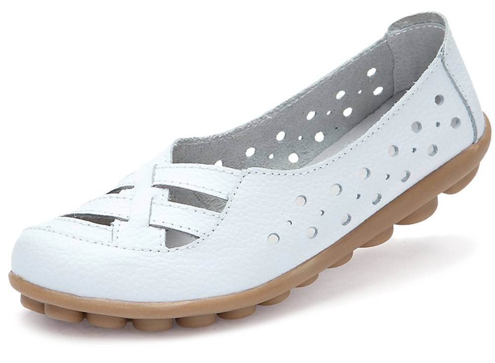 Fangsto femme Loafer Flats, Basses fille fille Flats, femme Blanc 1c18597 - jessicalock.space
