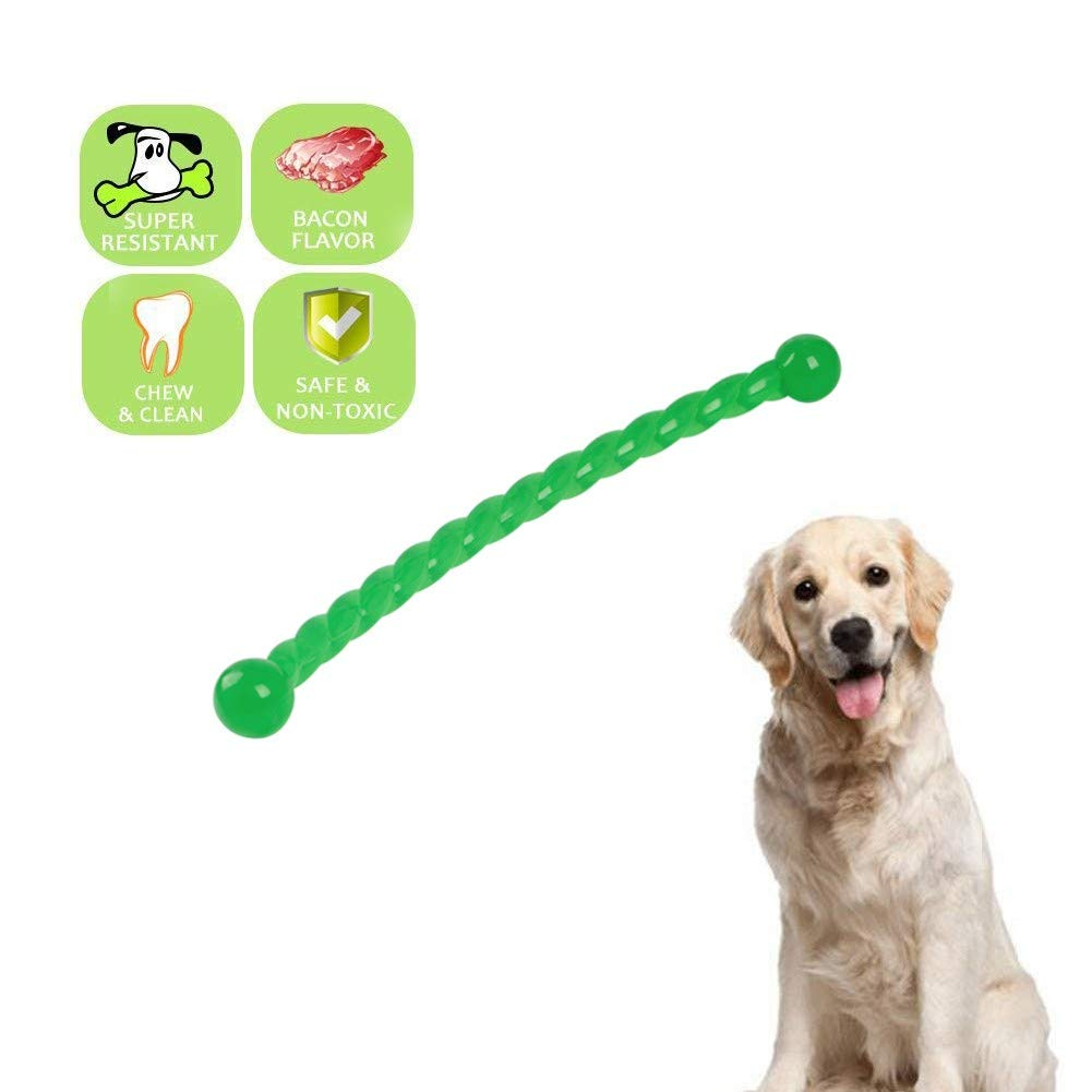 Twist bar 1 Dog Chew Toys ,Teething Chew Puzzle Training Massage Grinding Rubber Chew Toy Bone Teeth Cleaning Treat Tooth Gums, for Various Types Dogs