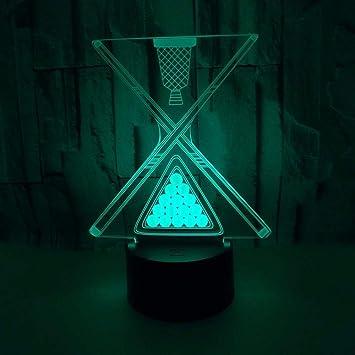 Dtcrzjxh Nuevas Luces De Billar 3D Toque Colorido Billar Led Luces ...