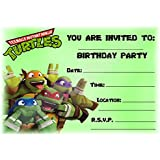 Teenage Mutant Ninja Turtle party invitations with envelopes 6 per