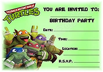 A5 CHILDRENS PARTY INVITATIONS X 12