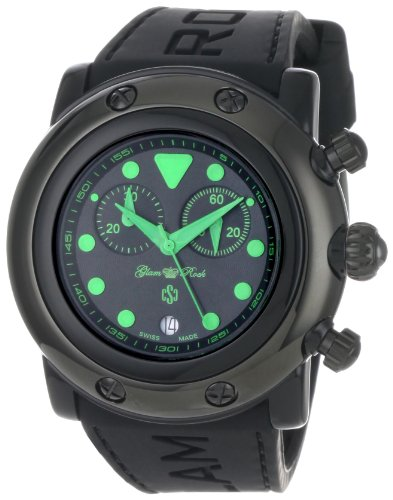 Glam Rock Women's 'Miami Beach' Swiss Quartz Resin and Silicone Casual Watch, Color:Black (Model: GR61116)