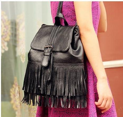 zedtom mochila piel sintética mochila flecos Backpack - Bolsa de moda Fashion para College jóvenes chicas mujeres: Amazon.es: Bricolaje y herramientas