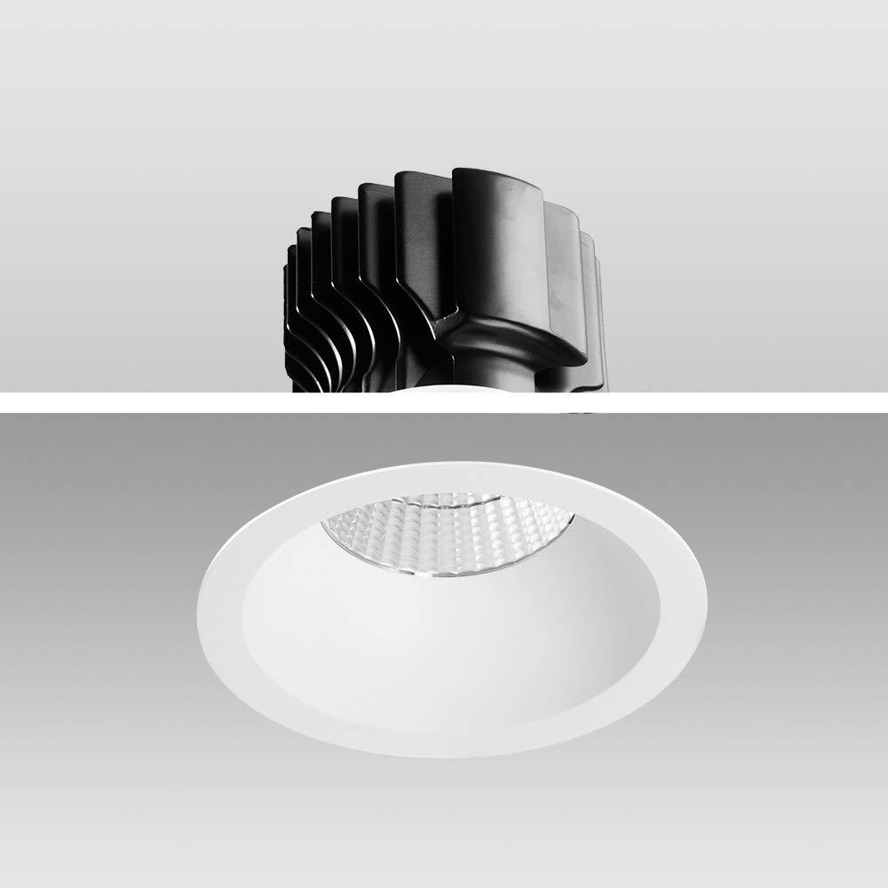 Mextronic Decke High Voltage LED Einbauleuchte Genius 30W 930 Warmweiß S627 Ø 170mm