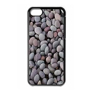 XiFu*Meiiphone 4/4s Case,Smooth Beach Pebbles Hard Shell Back Case for Black iphone 4/4s Okaycosama370303XiFu*Mei