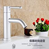 Furesnts Modern home kitchen and Bathroom Sink Taps Space aluminum hot and cold Bathroom Sink Taps,(Standard G 1/2 universal hose ports)